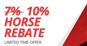 BetOnline 10% Horse Racing Rebate