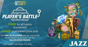 JAZZSports Casino $2500 Slot Tournament