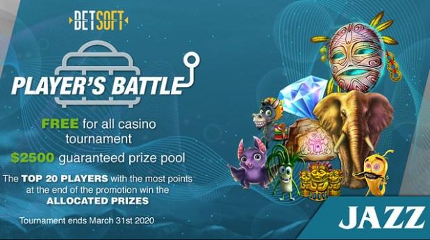 JAZZSports Casino $2500 Slot Tournament