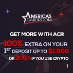 Americas Cardroom 200% Crypto Bonus
