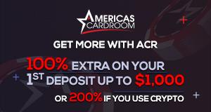 Americas Cardroom 300x160 200 Crypto Bonus