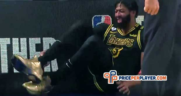 Lakers' Anthony Davis Reinjures Heel in Game 5 of NBA Finals