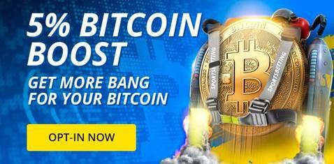 Sportsbetting.ag has a 5% Bitcoin Booist