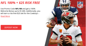 Free $25 Wager on the NFL at BetOnline