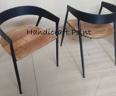 Cafetaria Chair with wooden seat