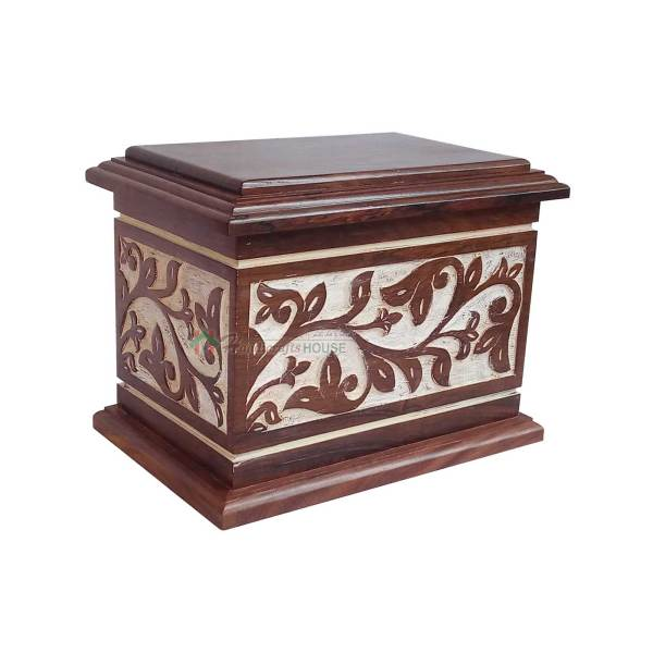 Cremation Urns For Remain Ashes, Wooden Burial Urn, Wood Casket