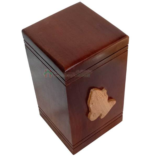 wooden urns for ashes.