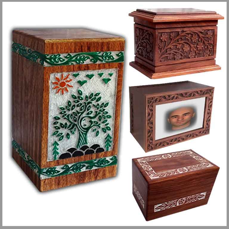Wooden Urns for Human Ashes