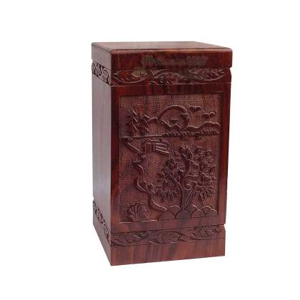 Hands Carving Wooden Cremation Urns, Solid Wood Burial Box for Human or Pet Ashes Adult – Hardwood Memorial Large Urn for Loved One