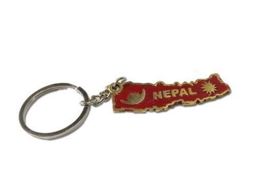 nepal map keychain
