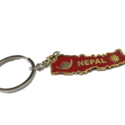nepal map keychain