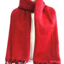 yak wool shawl red