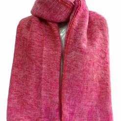 yak wool shawl light red
