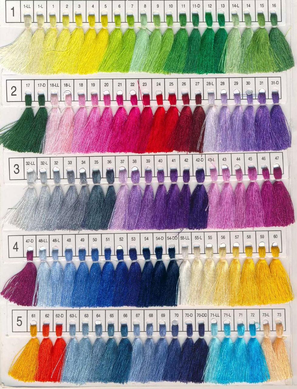Pashmina Color Chart 1