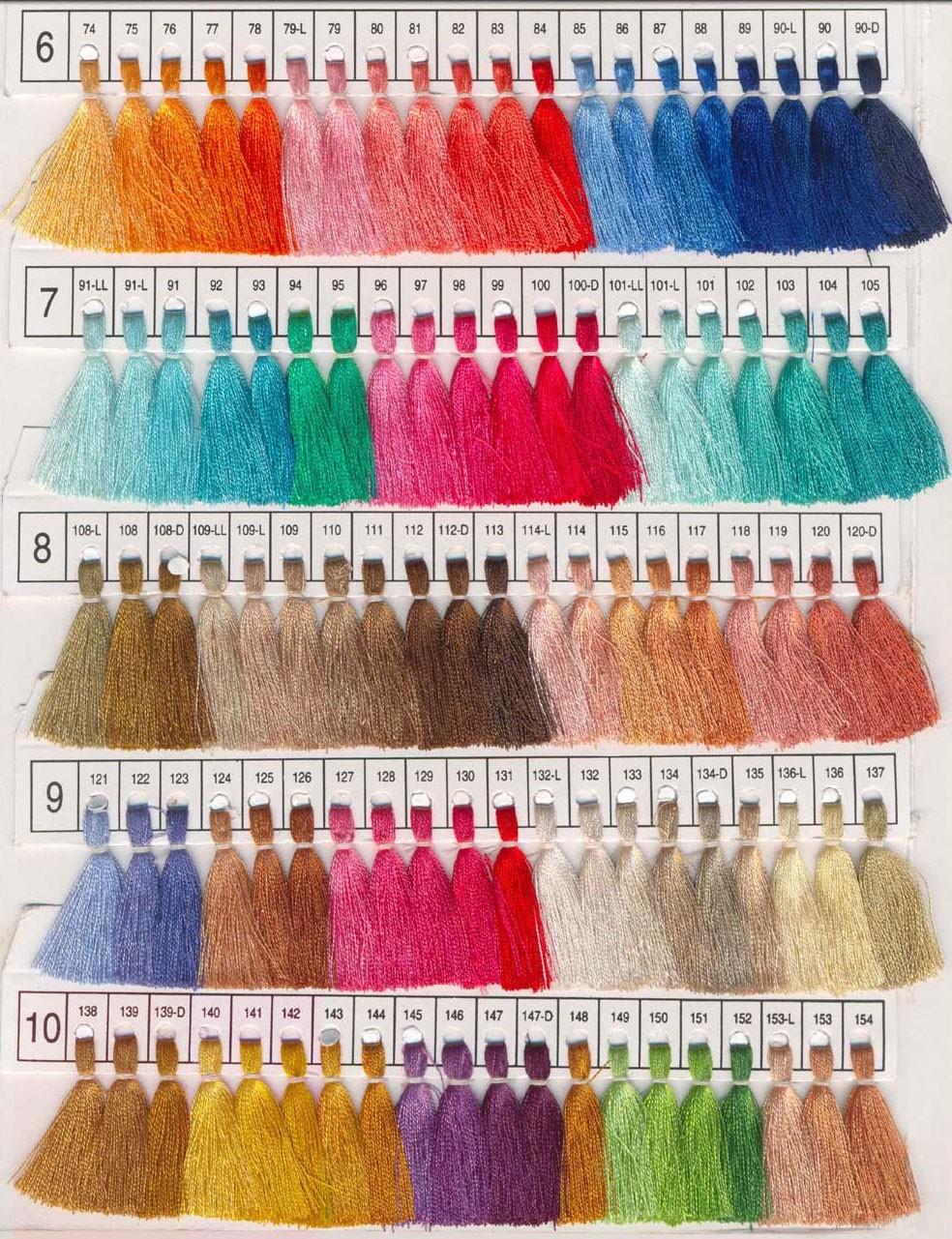 Pashmina Color Chart 2