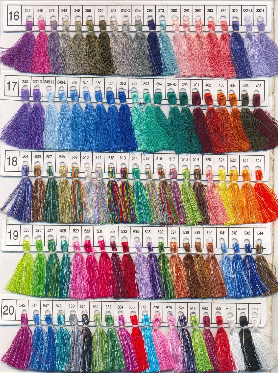 Pashmina Color Chart 4