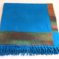 100% Yak Wool Blanket, Azure Blue Color 4