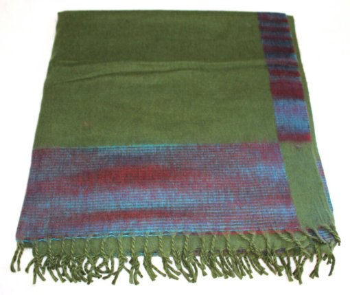 100% Yak Wool Blanket, Kelly Green Color 2
