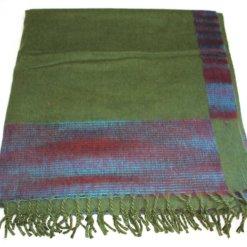 100% Yak Wool Blanket, Kelly Green Color 4