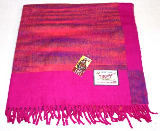 100% Yak Wool Blanket, Hot Pink Color 1