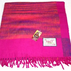 100% Yak Wool Blanket, Hot Pink Color 3