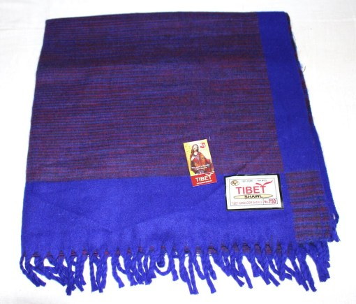 100% Yak Wool Blanket, Indigo Blue Color 1