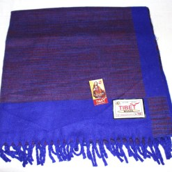 100% Yak Wool Blanket, Indigo Blue Color 3