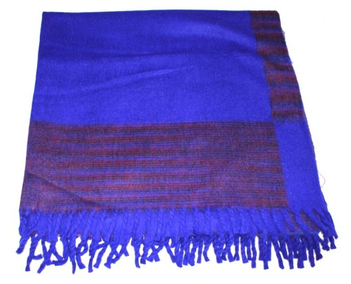 100% Yak Wool Blanket, Indigo Blue Color 2