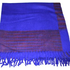 100% Yak Wool Blanket, Indigo Blue Color 4