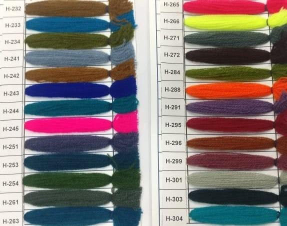 Yak Wool Color Chart 3
