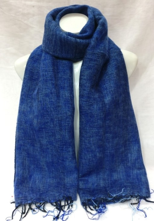Himalayan Yak Wool Shawl Sky Blue colors