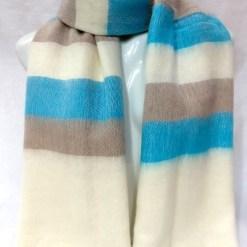 handloom yak wool shawl stripe