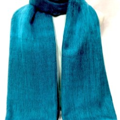 Himalayan Yak Wool Shawl turquoise colors