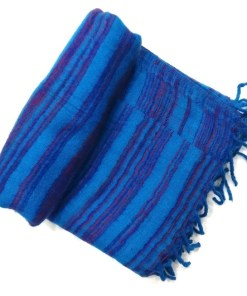 hand-loomed-yak-wool-blanket-blue-color-1