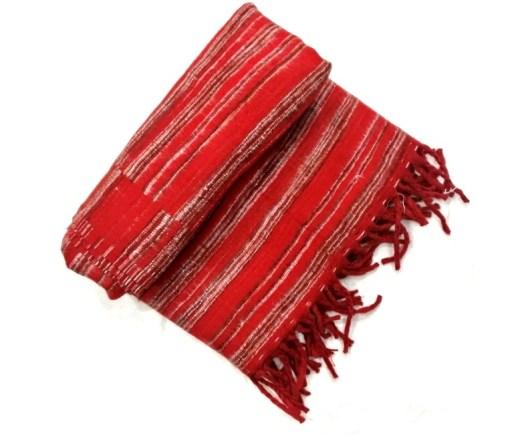 hand-loomed-yak-wool-blanket-red-color