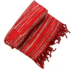 hand-loomed-yak-wool-blanket-red-color