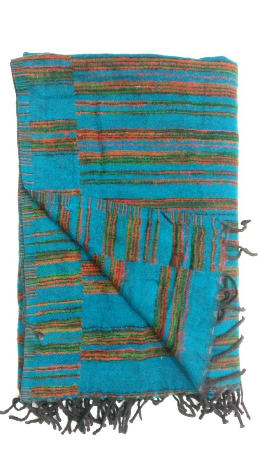 hand-loomed-yak-wool-blanket-turquoise-color