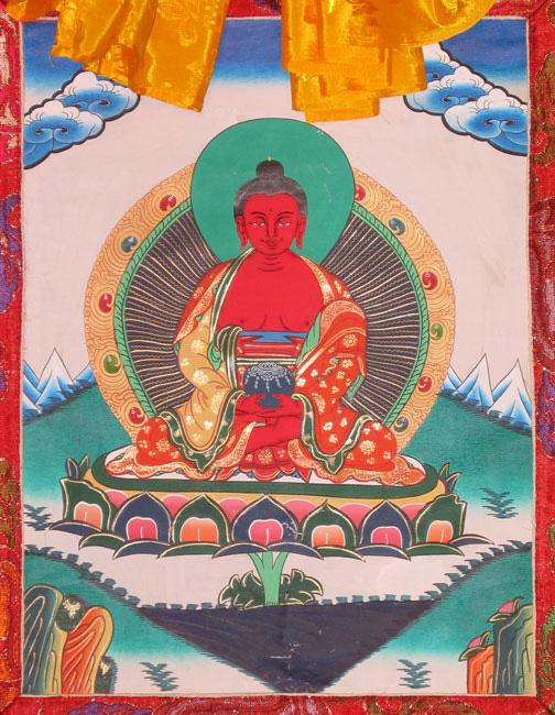 amitabha buddha thanka painting