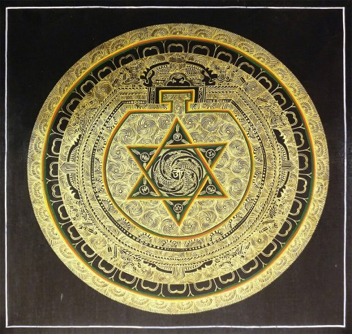 Golden Mandala Thangka