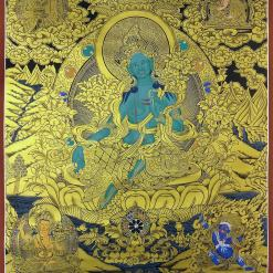 green tara thangka large size