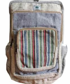modern hemp travel backpack