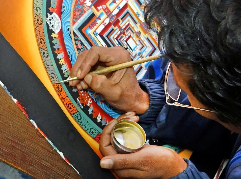 thanka painting school kathmandu