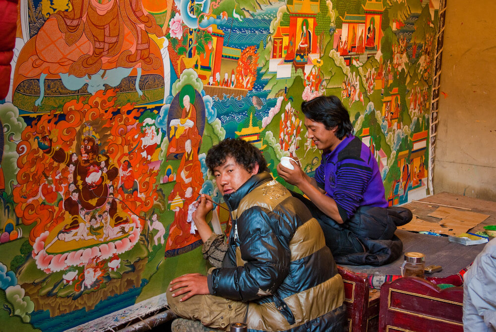 thanka painting making
