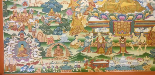Life of Buddha Master Thangka 1