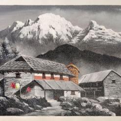 nepali traditional village painting