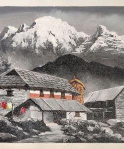 nepali traditional village painting