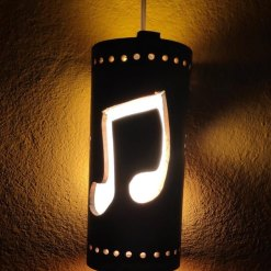 music hanging lamp bamboo made in nepal