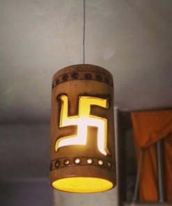 swastik bamboo hanging lamp
