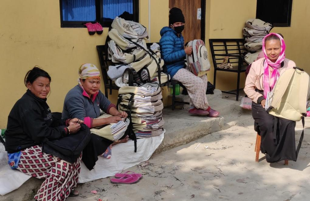 local women handicrafts nepal