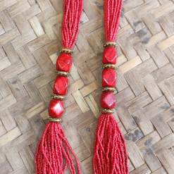 Nepali Beads Red Pote Necklace